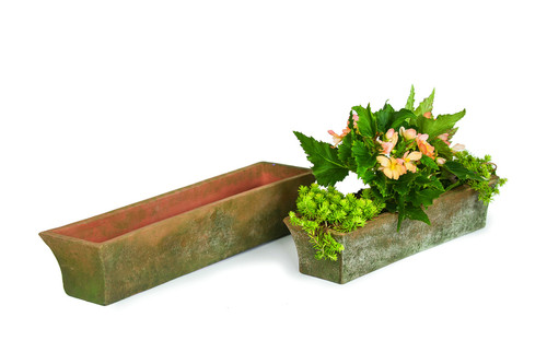 Aged Mimi Rectangular Planter