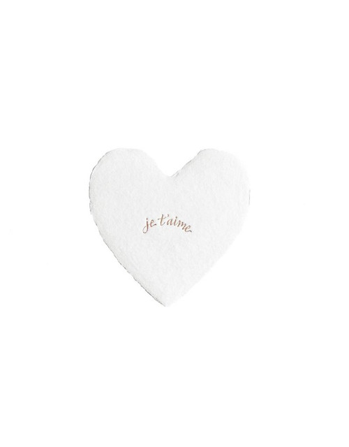Petite Foiled Hearts je t'aime