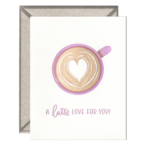 A Latte Love Card