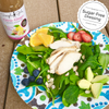 Salad for most diets topped with Citrus Ginger sugr-free and all-natural dressing that is sweetened with stevia and monk fruit.