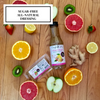 Simple Girl Citrus Ginger Sugar-Free Dressing is sweetened with stevia and oil-free.  So no guilt here!
