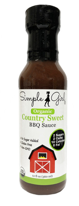 Simple Girl Organic Country Sweet Low Sugar, Low Carb BBQ Sauce