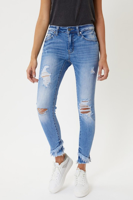 The Haleigh Frayed Denim