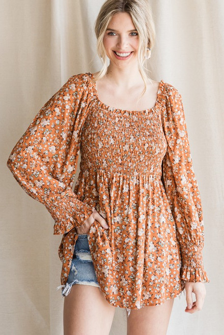 The Cutest Floral Top Toffee