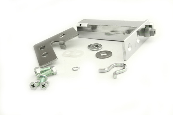 Image showing all the components for the True 870838 door hinge kit with Kason 1556-570-54 cartridge spring
