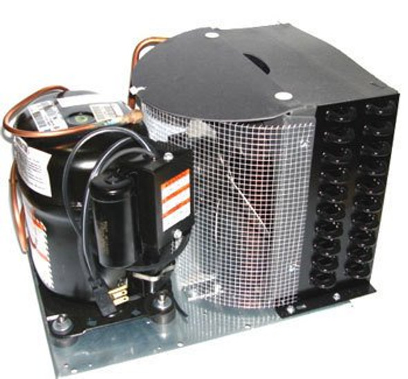 Side view of True 874532 Condensing Unit with compressor by Tecumseh (AKA4460YXA)