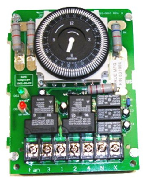 View of the top of the True 831994 defrost timer manufactured by Grasslin (DTSX-B-120-TM).