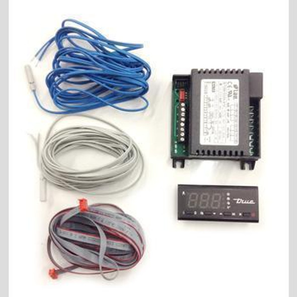 Picture of all components of the True 219717 TEMP CONTROL/DISPLAY KIT