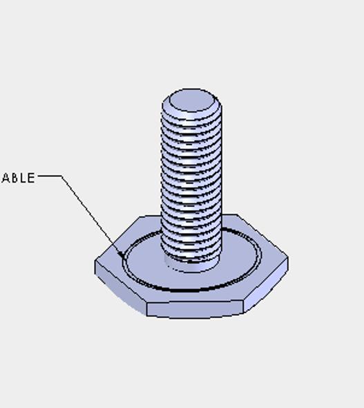 Diagram of True's 996897 Leveling Screw