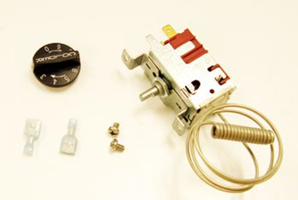 All components laid out for the True 988269 temp control by Danfoss (077B1228)