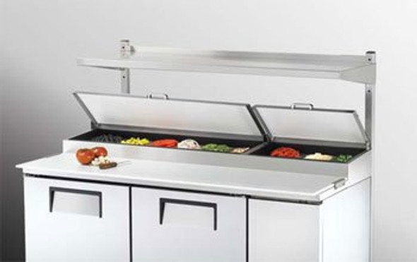 Image of the True 915049 overshelf kit in use on a prep table