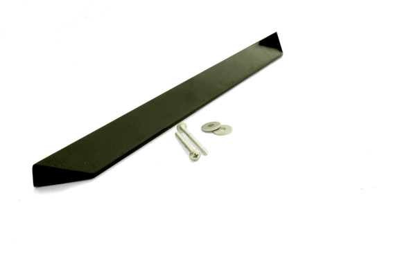 View of the True 884900 sliding door handle with installation screws and washers.