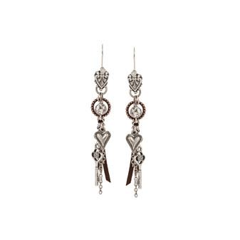 Poetic Drop Charm Earrings (E2365)