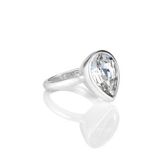 Bold Crystal Teardrop  Ring