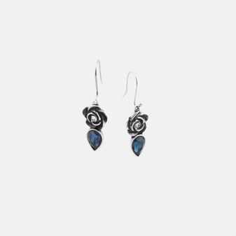 Rose & Crystal  Montana Teardrop Earrings (E2672)