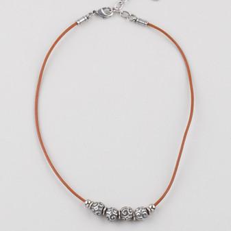 Petite Edie Leather Necklace (N1661)