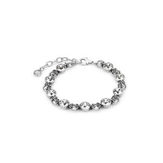 Lily Rose Bracelet (B1212)  Feeling feminine? Express yourself in a playful, notice-me bracelet  • Miglio burnished silver • 8mm Swarovski® crystal • secure lobster clasp fastening • 19cm with adjustable extender