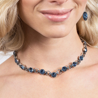 Denim Lily Rose Necklace