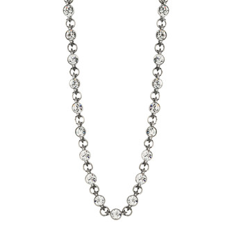 Lily Rose Necklace (N1514)  Sleek, sparkling and oh-so-stylish  • Miglio burnished silver • 8mm Swarovski® crystal • secure lobster clasp fastening • 40cm with adjustable extender