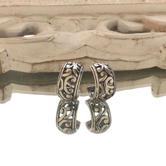 Paisley Hoop Earrings