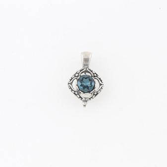 Steel Blue Victoria Pendant (EN1537)