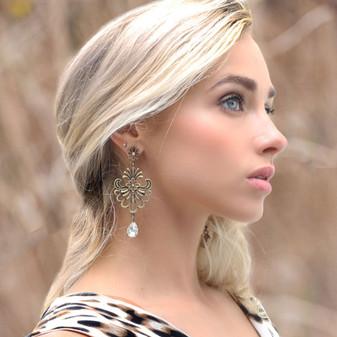 Tuscany Crystal Chandelier Earrings