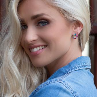 Petite Rainbow Stud Earrings