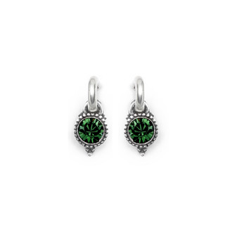Emerald Carefree Earring Charms