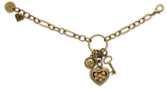 Antique Bronze Chain Bracelet (B910)