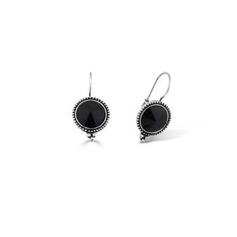 Nova Jet Black Drop Earrings (E4554)