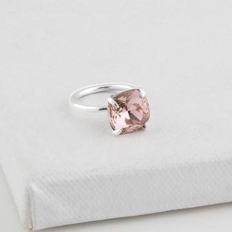 Vintage Rose Sterling Silver Ring (RR289- Size R)