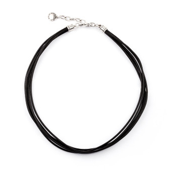Black Leather Necklace (N1087)