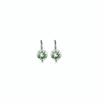 Petite Mint Green Drop Earrings (E4686)