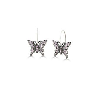 Take Flight Butterfly Drop Earrings (E4688)
