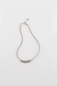 Natural Leather Necklace.  ( N1676 )