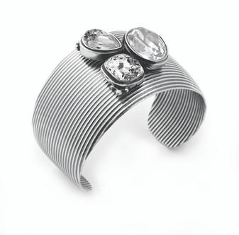 Bold Burnished Silver Bracelet ( B1155 )
