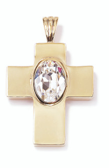 18ct Gold-plated Swarovski Crystal Cross Pendant