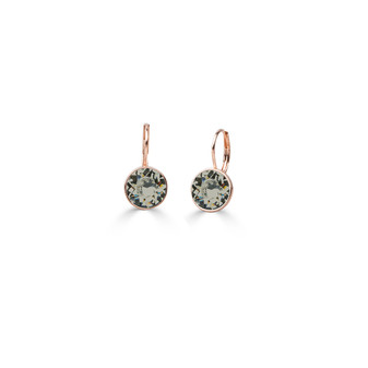 22ct rose gold-plated Black Diamond Petite Glam Rock Earrings ( E4693 )