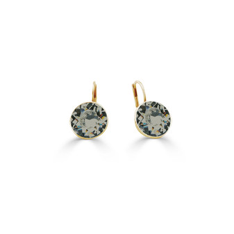 22ct gold-plated Black Diamond Bold Glam Rock Earrings ( E4695 )