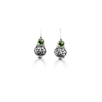 Peridot  Amour Drop Earring  (E4740)