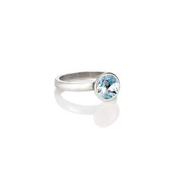 Petite Glam Rock Light Azure Ring