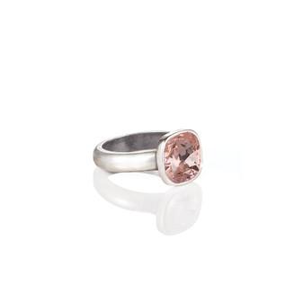 Cushion-Cut Vintage Rose Ring (RR323 K/N/P/R)