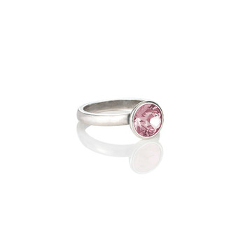 Petite Glam Rock Light Rose Ring