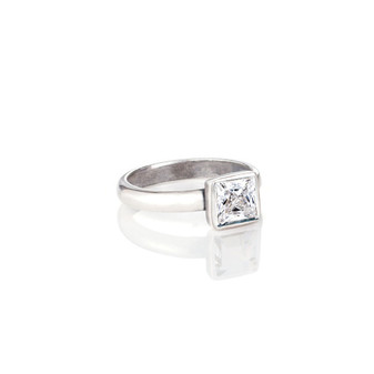 Square Crystal Ring ( RR143 K/N/P/R )