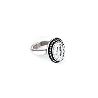 Navaho Oval Crystal Ring (RR81 K/N/P/R)