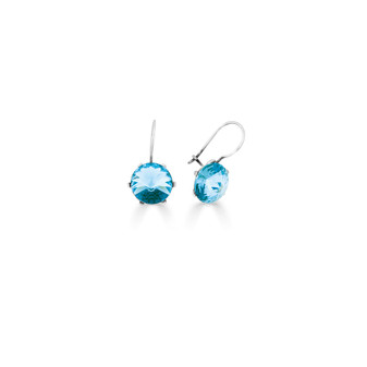 Spirit Of A Woman Light Turquoise Drop Earrings ( E4760 )