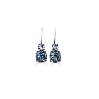 Denim Indigo Drop Earrings