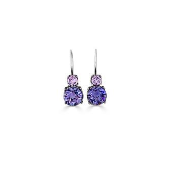 Violet Wisteria Drop Earrings