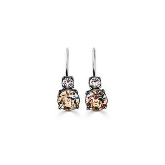 White Orchid Drop Earrings