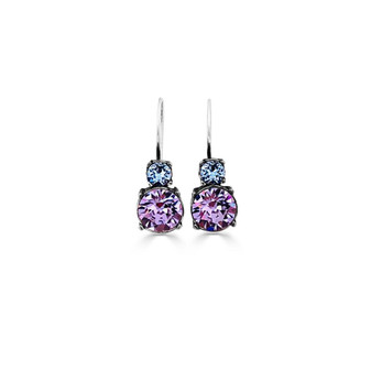 Blue Violet Drop Earrings